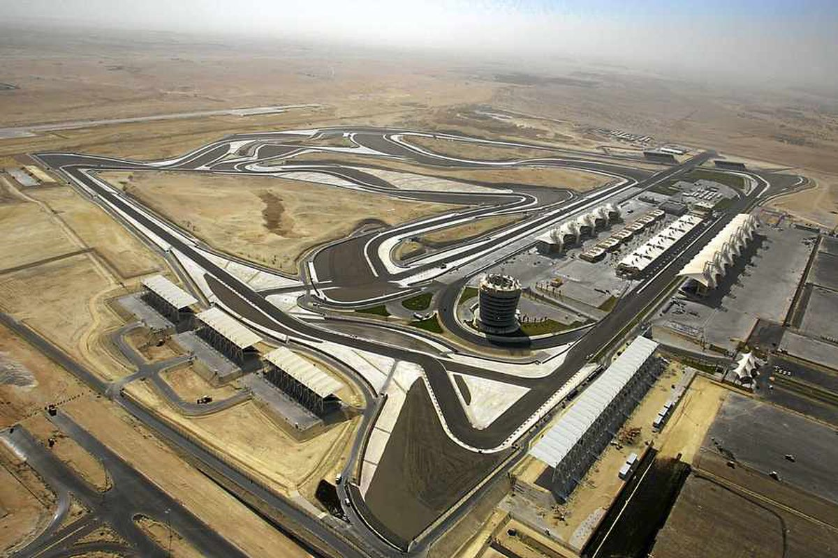 Some 75 tons of stone have been exported to Bahrain to create the track