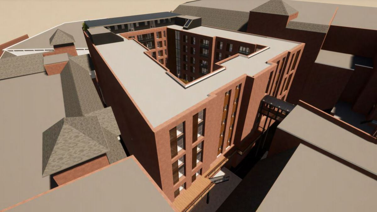 Artist's impressions of the development submitted with the application