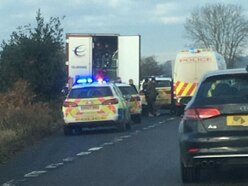 Men and children found in back of a lorry on A41 near Weston Park