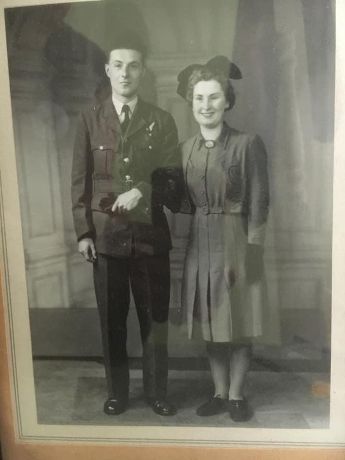 Wilfred and Winifred Dawson who married after meeting while serving in the RAF and the Women's Auxiliary Air Force in Lincoln