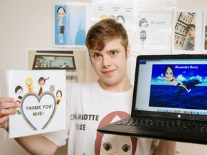 Jason Wright, 21, from Telford will his Apples comic strip creations