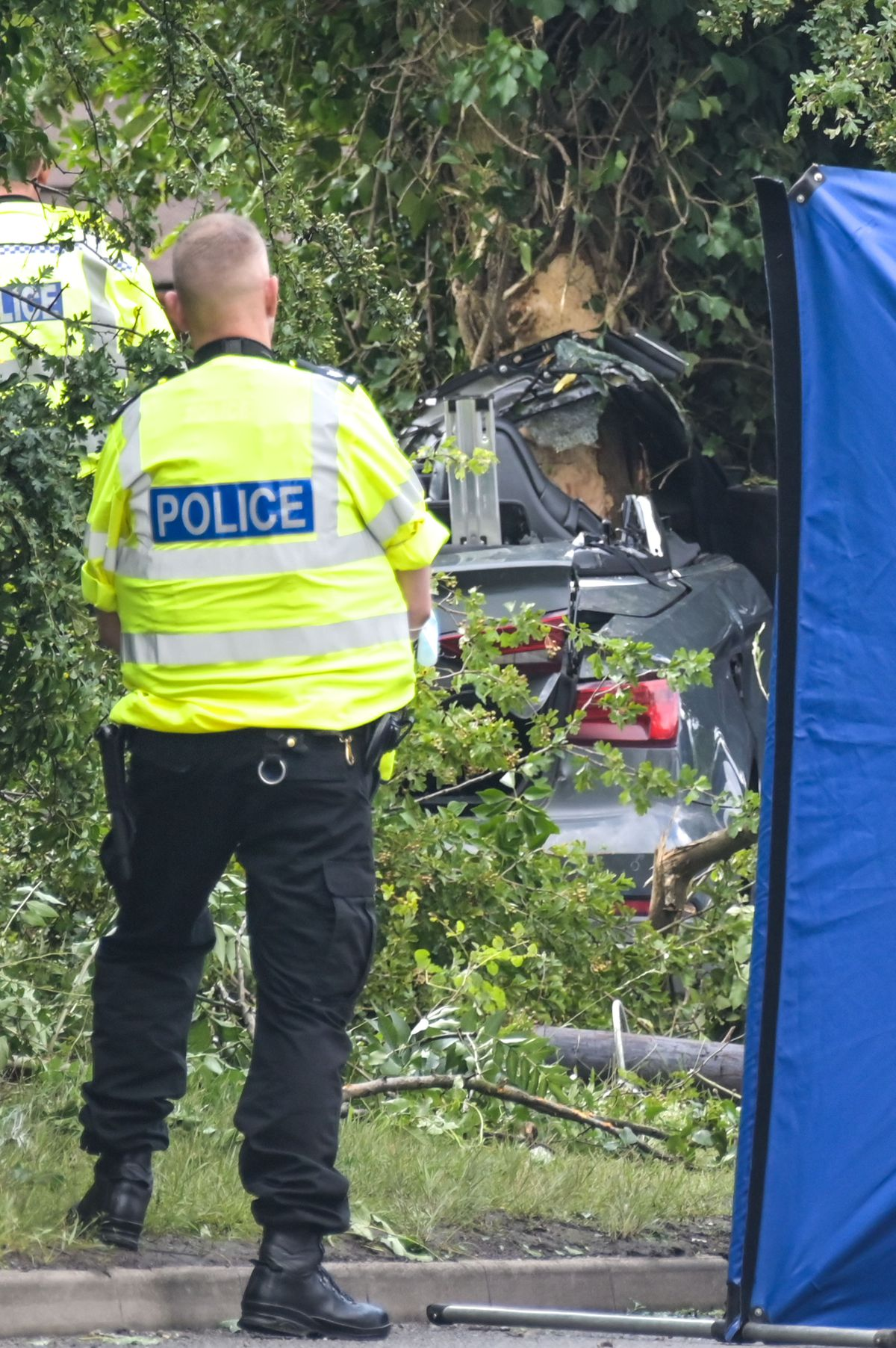 The crashed car ended up in a hedge. Photo: SnapperSK