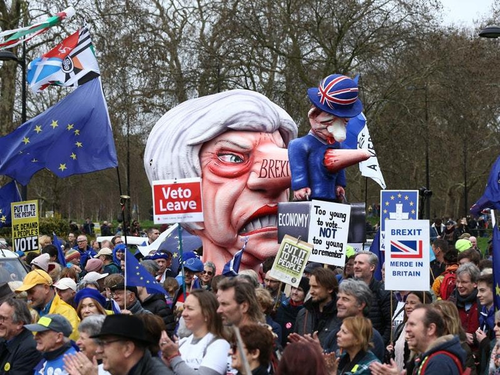 Image result for massive demonstration in London on Saturday BREXIT