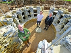 Shropshire burial mound is close to completion
