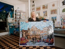 Picture the scene: Shrewsbury artist recycle magazines into art