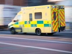 Trapped woman rescued after car overturns near Shrewsbury