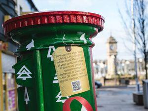 A festive postbox in Bangor, Northern Ireland
