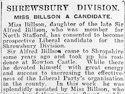 The 1920s Shrewsbury dream which died with Mabel Billson