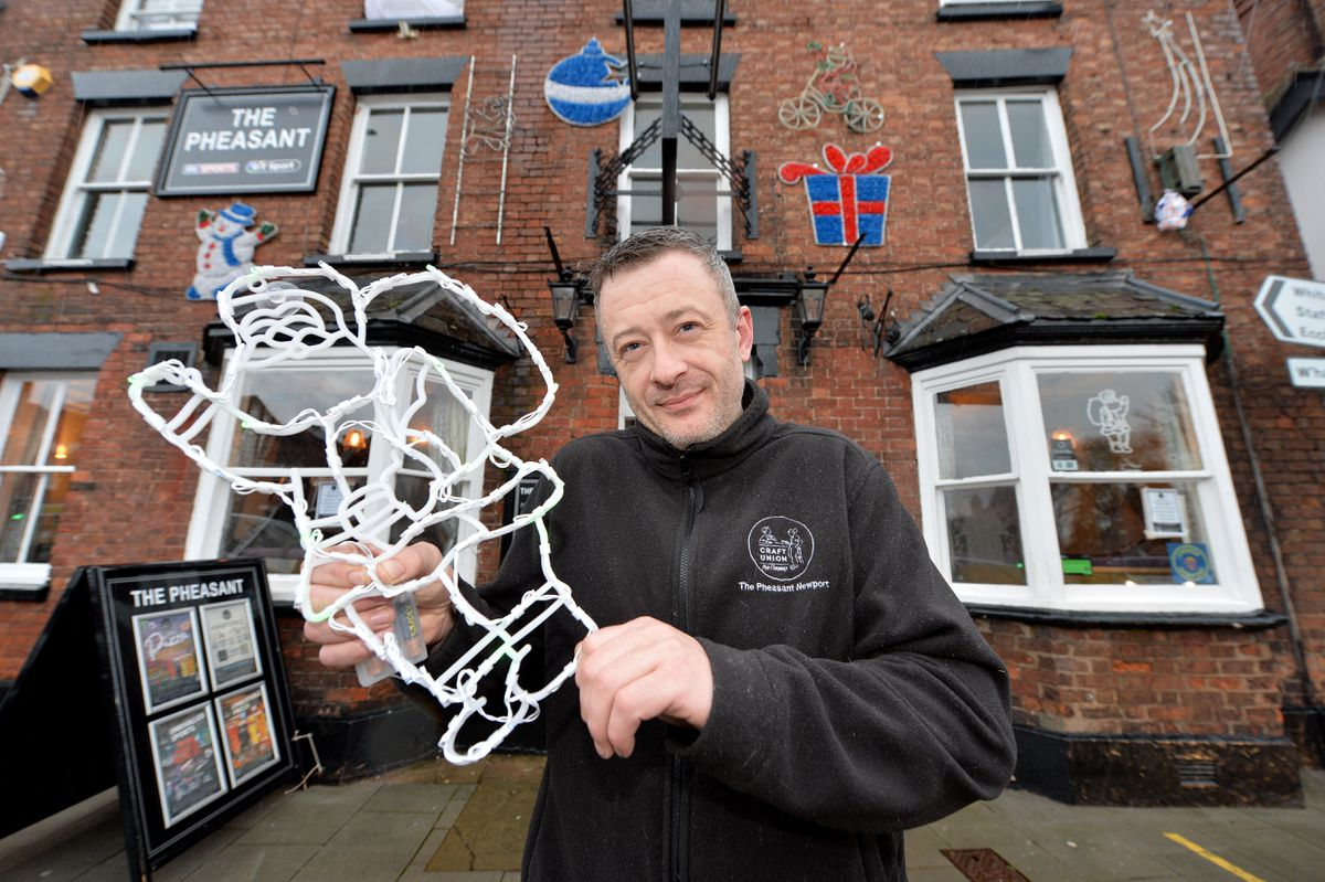 Dave Trigg at the Pheasant in Newport was one of the winners of the annual Christmas window display