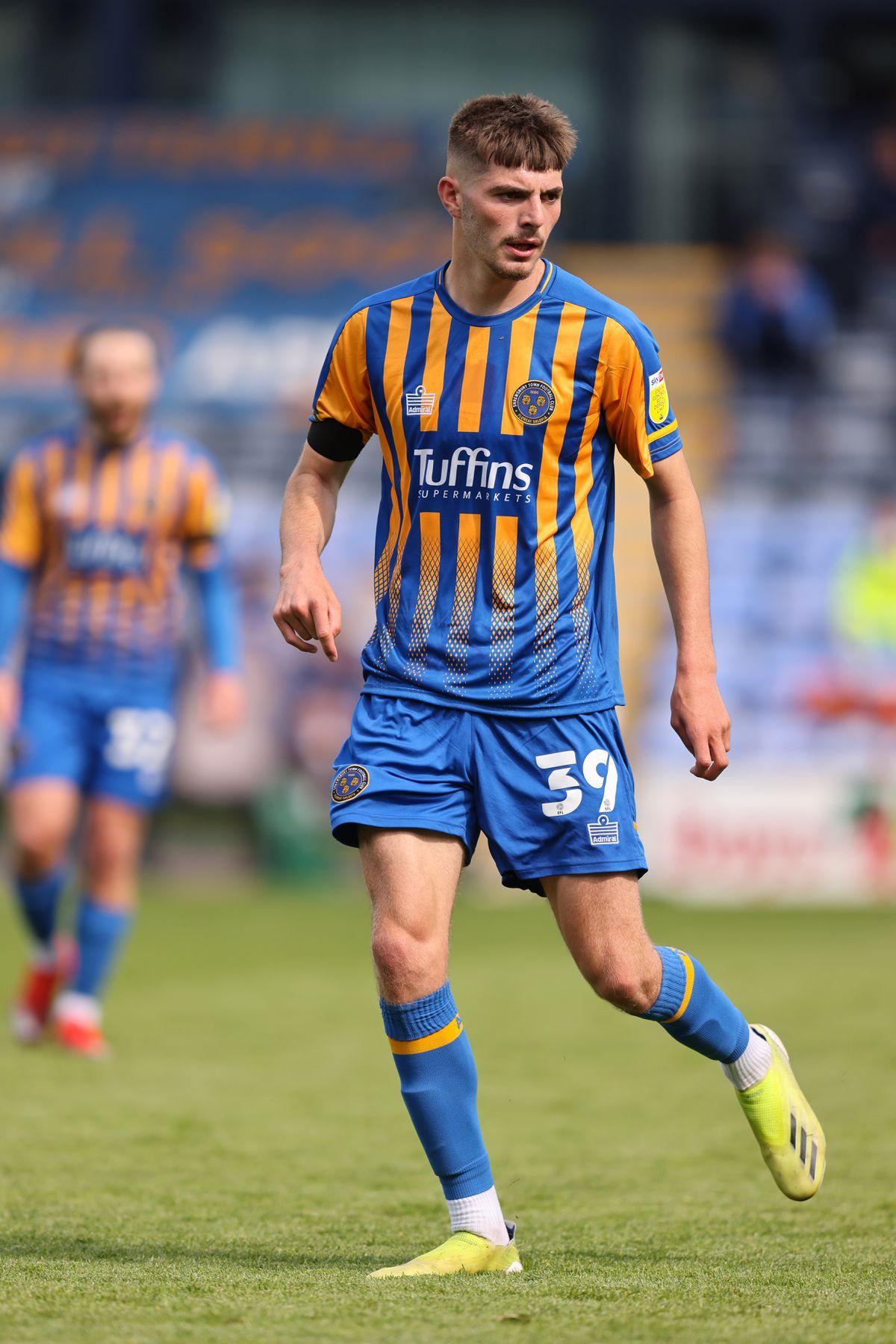 Tom Bloxham of Shrewsbury Town. (AMA)