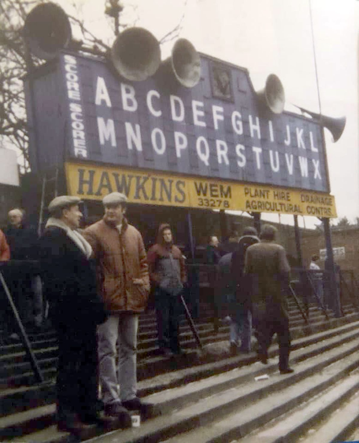 The iconic half time scoreboard at the Gay Meadow