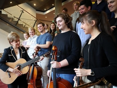 Sturgeon meets Eurovision Young Musicians 2018 contestants