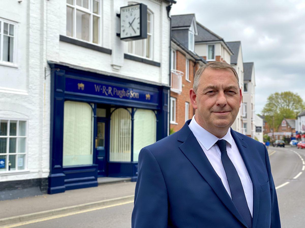 Ian McDougall, director of WRR Pugh & Son Funeral Directors in Shrewsbury
