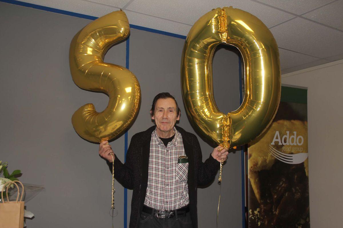 Alan Burton celebrated 50 years