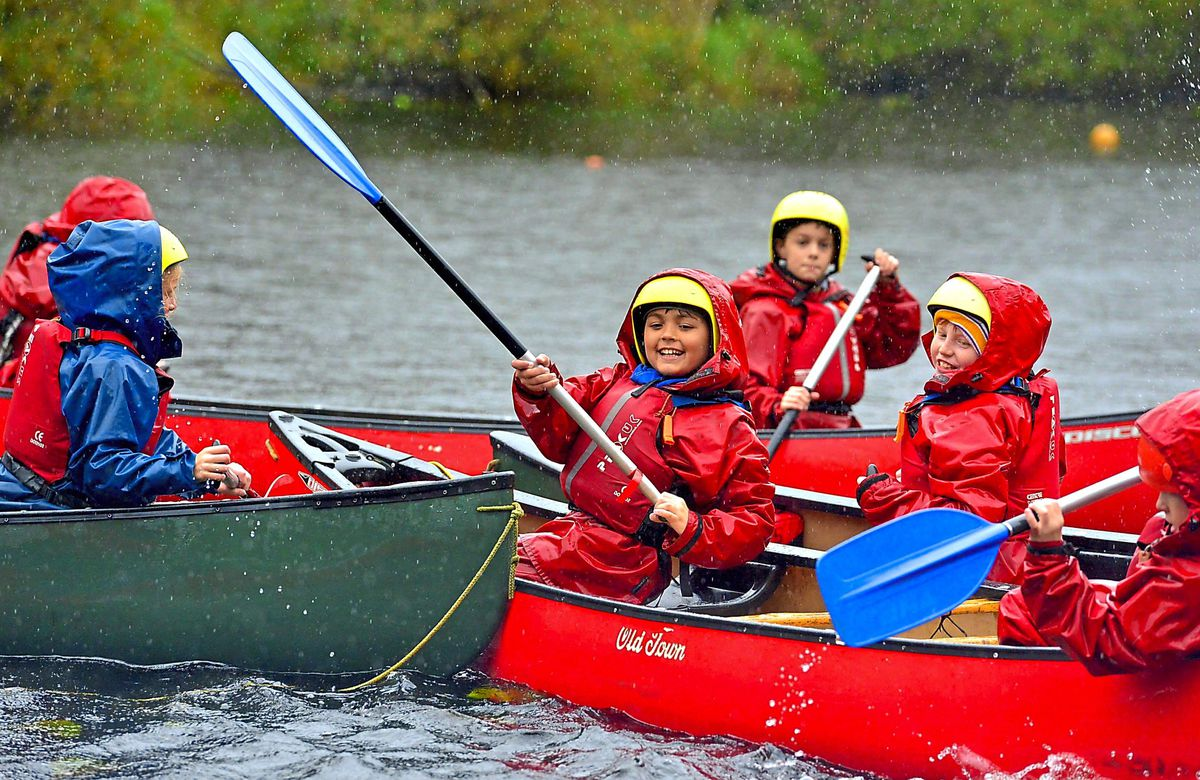 Pupils got to enjoy canoes too