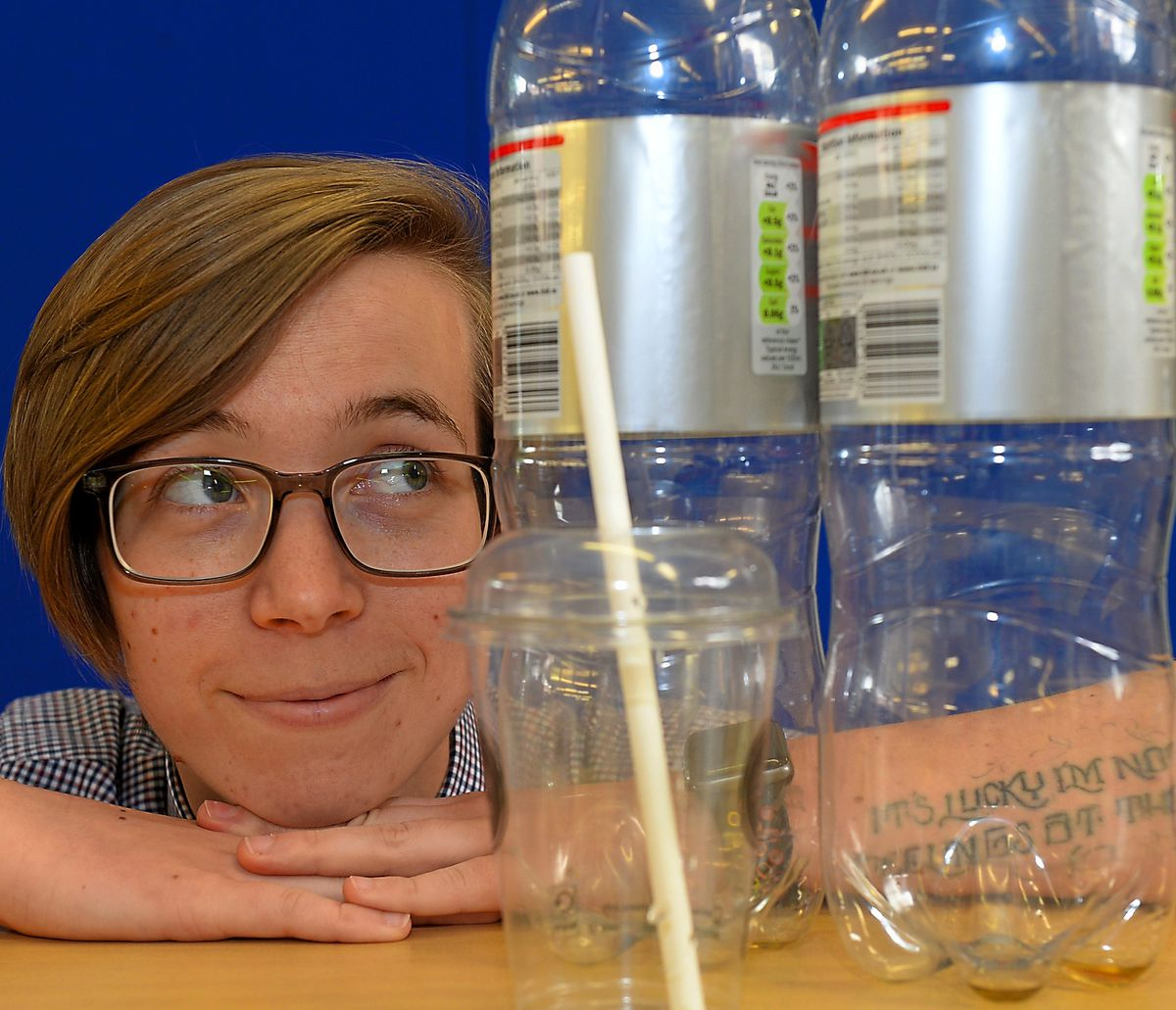 Market Drayton Library is supporting Plastic Free July and will host a talk from Generation Zero Carbon next month. Pictured is library assistant Jessie Wolf