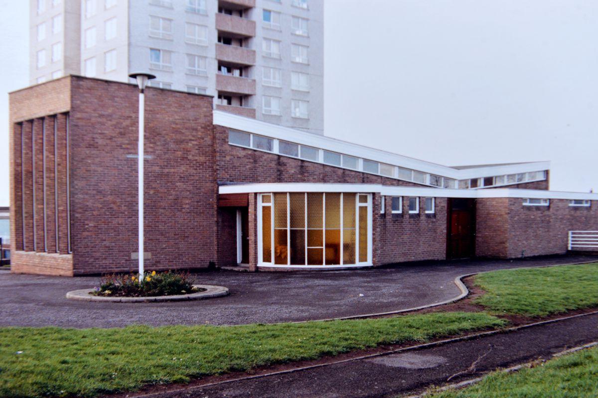 The newly built Ketley Methodist Church, in 1966.