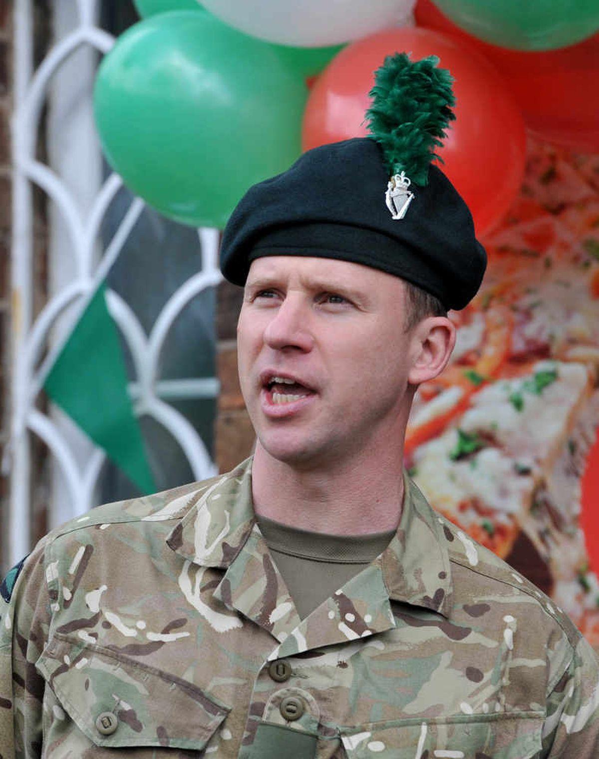Commanding Officer Lieutenant Colonel Graham Shannon