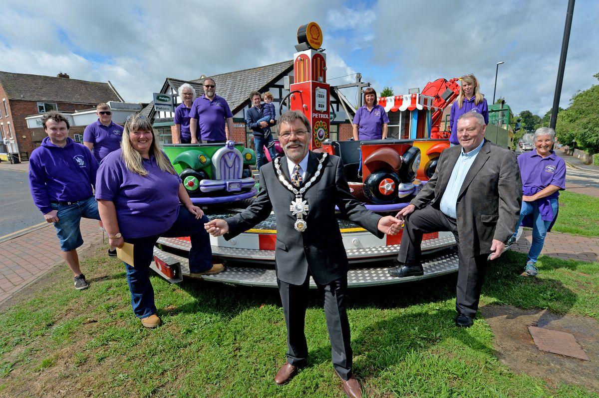 Sarah Richards, Bob Harrop and Gerald Nickless uphold the Shifnal fair and carnival charter during the coronavirus lockdown