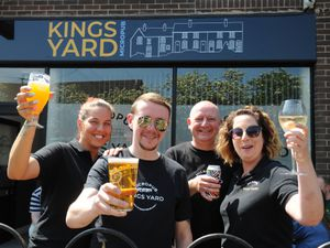 At the Kings Yard Micropub in Shifnal are from left, staff members Emma Hassall, owner Adam Caton, Max Langford, and Hayley Fisher.