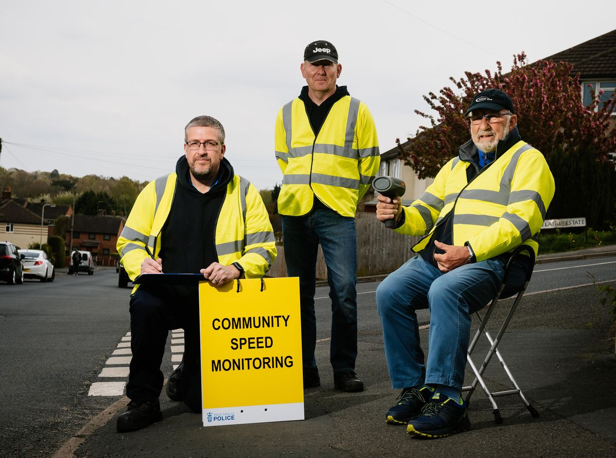 Clive Luty, Andrew Swire and Kevin Read-Jones, of Market Drayton, have set up a Community Speedwatch group