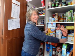 Ludlow Food bank co-ordinator Ruth Davies