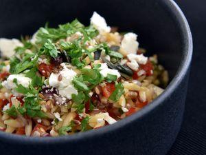 Orzo, a pasta, salad dish