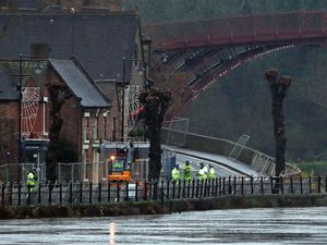 Flood barriers have been installed in Ironbridge