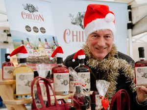 SHREWS COPYRIGHT SHROPSHIRE STAR JAMIE RICKETTS 04/12/2020 - Pre-Pics for Shrewsbury Farmers Market and also the up coming Shrewsbury Christmas Farmers Market in The Square. In Picture: Philip Rogers-Coltman from Chilton Liqueurs.