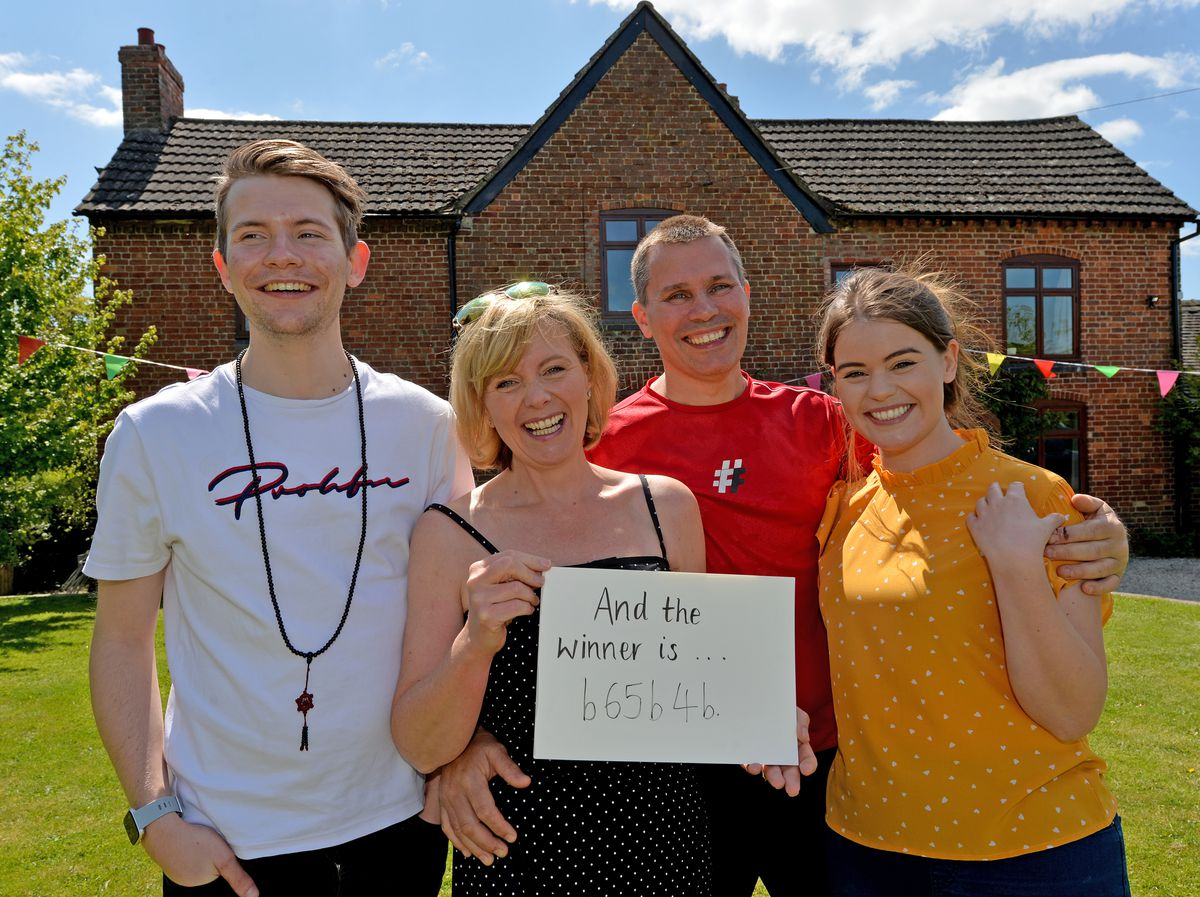 The Chaloner family have raffled off their farmhouse in north Shropshire for £2 a ticket