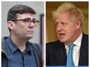 Greater Manchester Mayor Andy Burnham and Prime Minister Boris Johnson