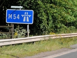 Two people cut free and M54 rush hour delays following multiple crashes in Shropshire