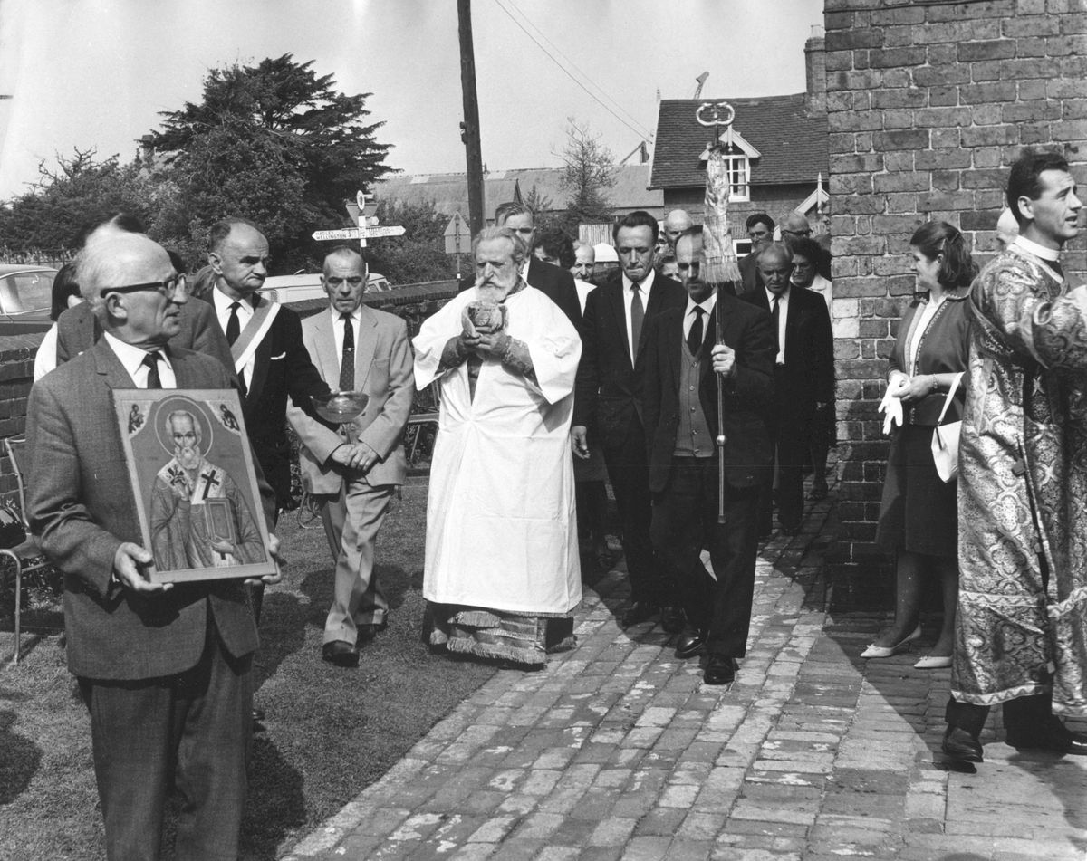 Bishop Dionisije, head of the Serbian Orthodox Diocese of USA and Canada, came to consecrate the Serbian Orthodox Church at Donnington on Sunday, August 4, 1968.