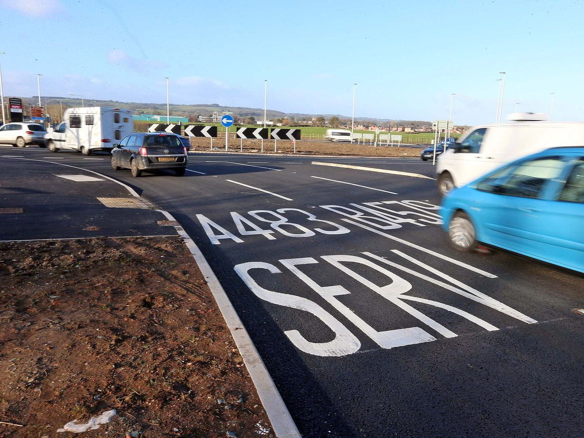 Mile End roundabout in Oswestry has had millions of pounds worth of changes in recent years