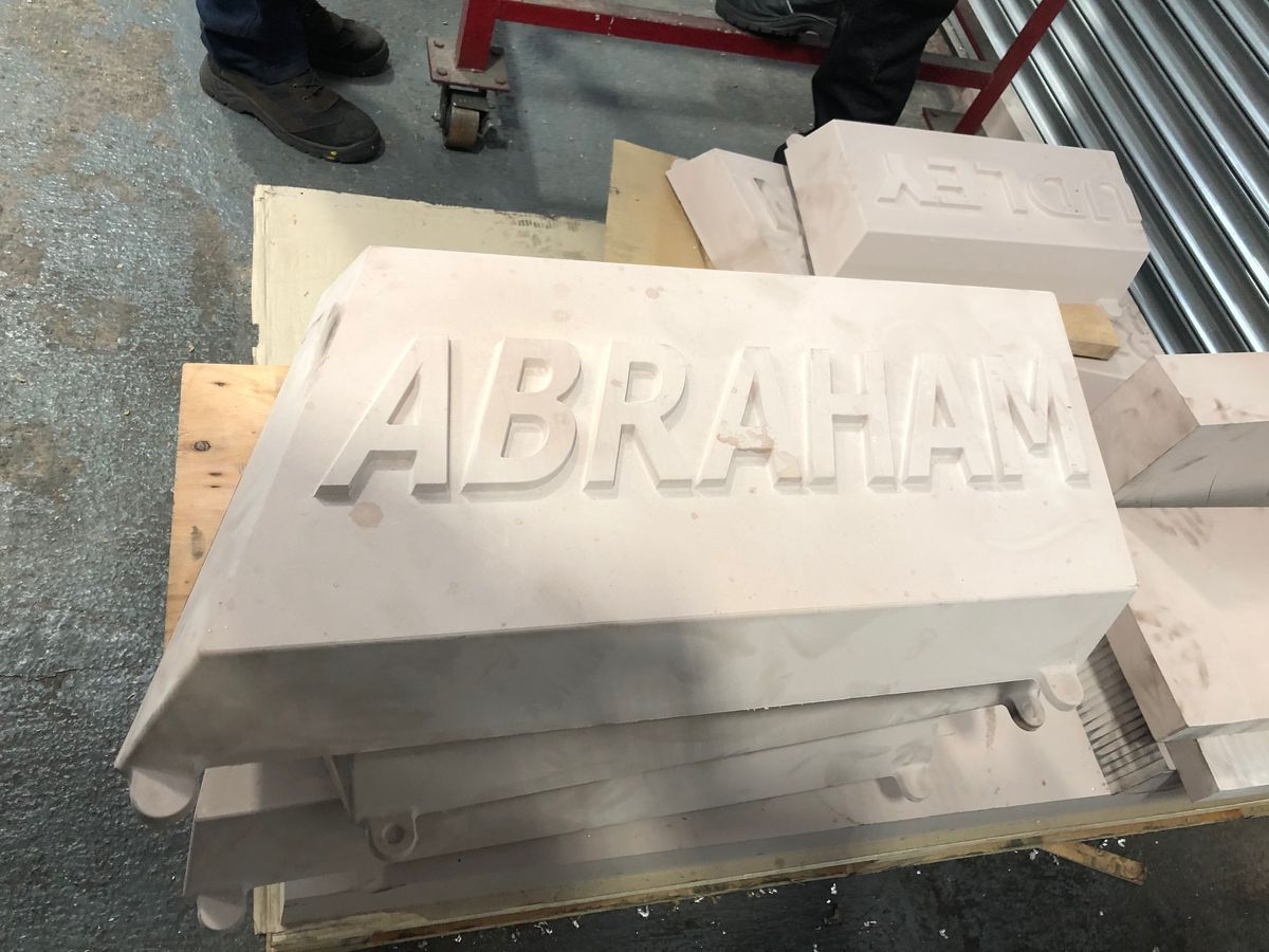 Moulds being made for the monument