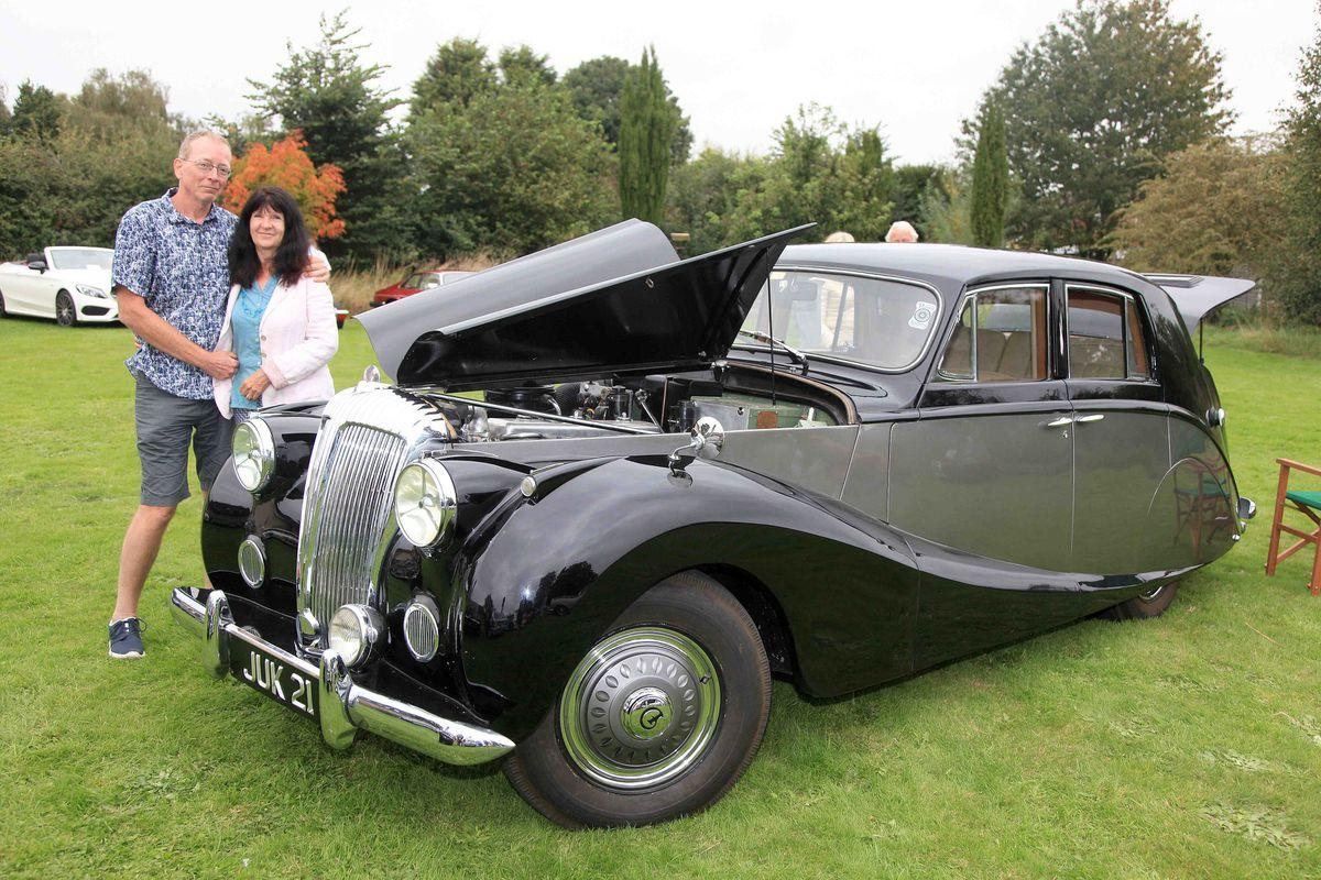 David and Julie Barlow with their 1951 Daimler DB18 with Hooper Empress Coachwork