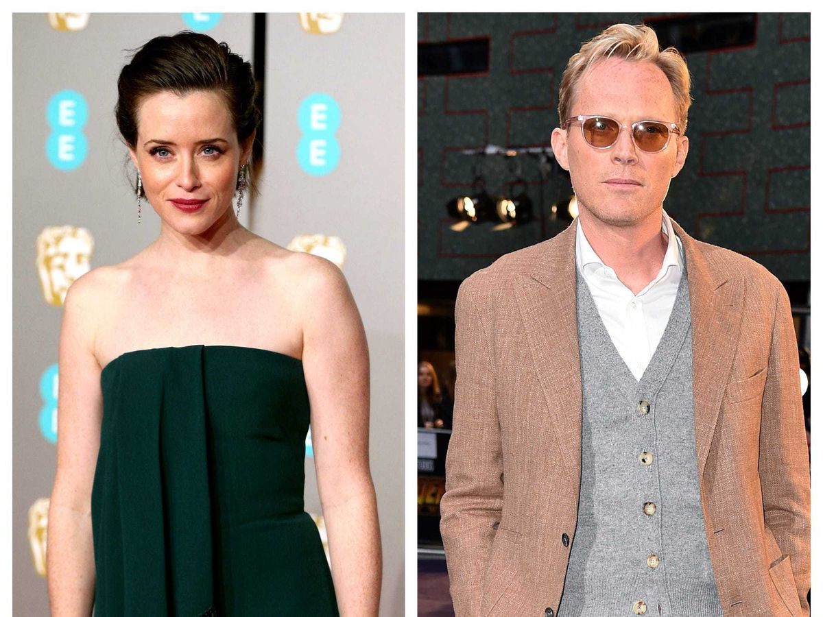 Claire Foy and Paul Bettany