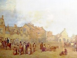 All Newport life is there in 1838 painting of bustling street