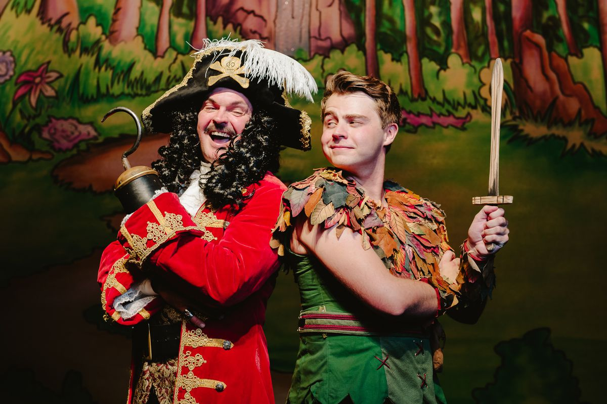 Phil Stewart as Captain Hook and Harry Winchester as Peter Pan