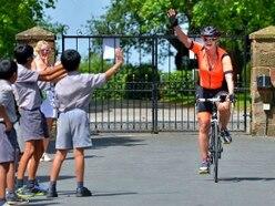 Shropshire mum's right royal cycling trip sees £4,000 raised for charities