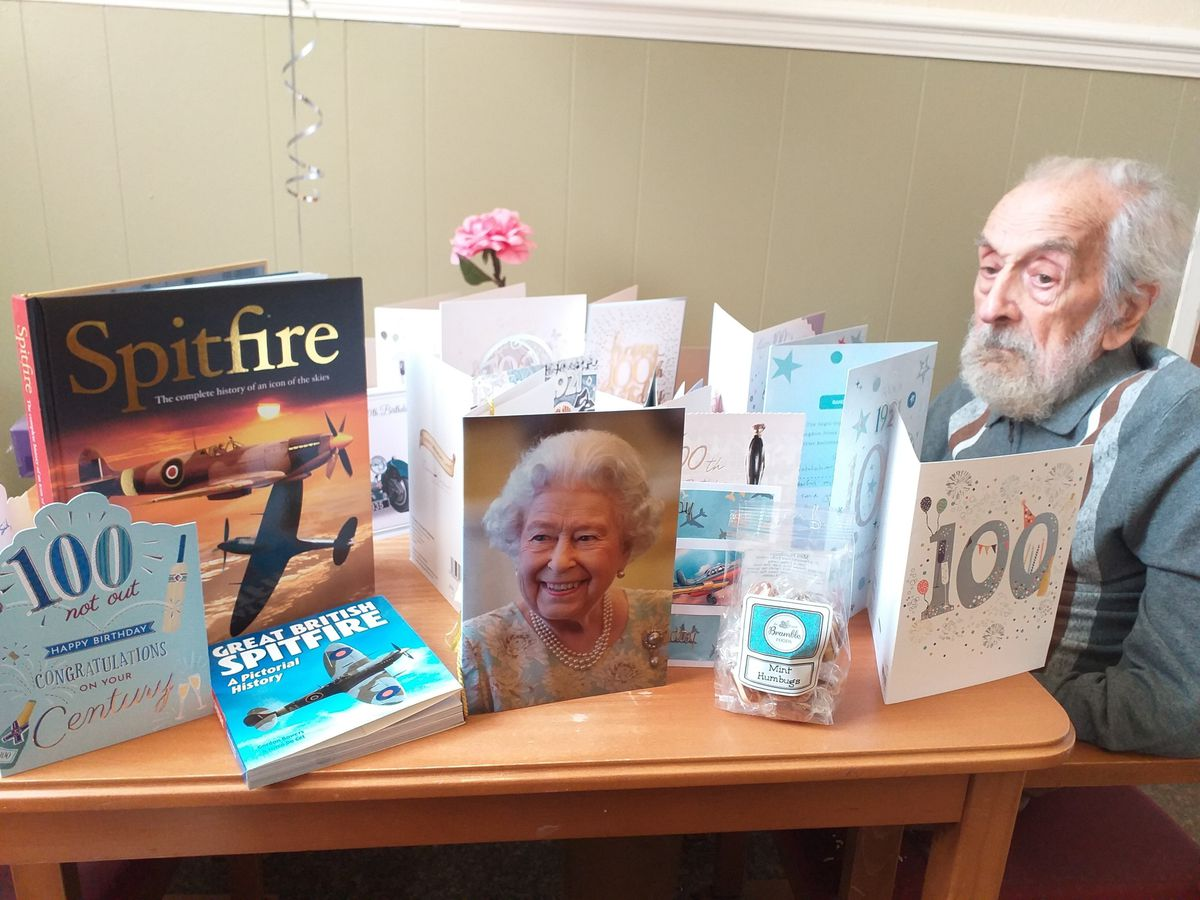 Sidney Lenthall turned 100 on Monday