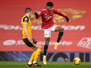 Conor Coady of Wolverhampton Wanderers and Marcus Rashford of Manchester United (AMA)