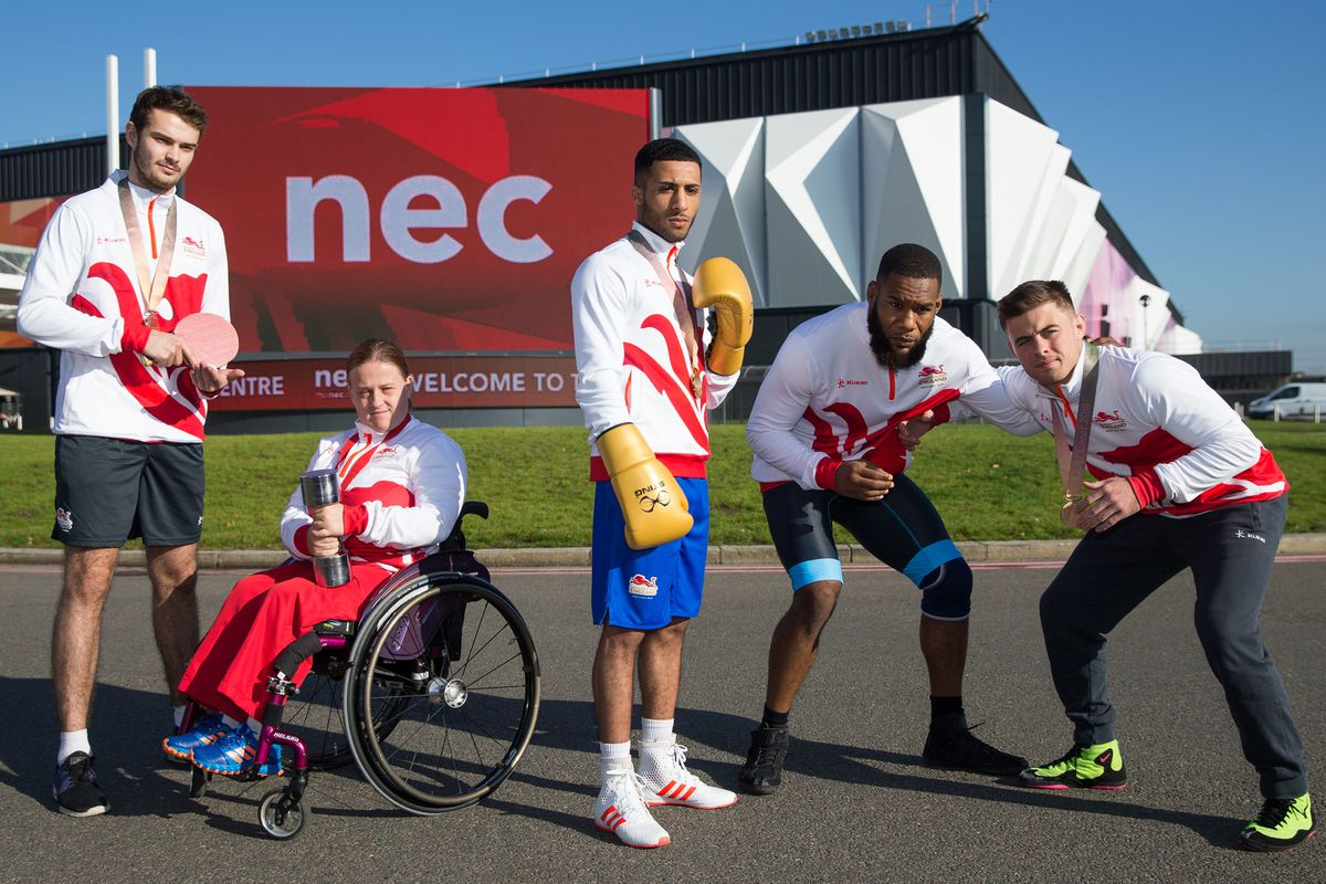 Commonwealth athletes line up during a photocall for the Birmingham 2022 Commonwealth Games