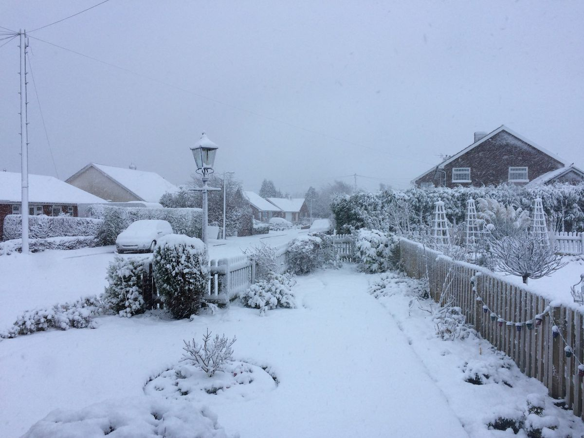 A very snowy scene in Broseley. Picture: @Astridcards