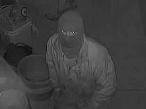 CCTV of the burglary