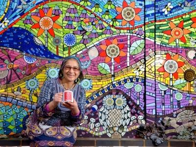 'I feel inspired by it': Bearwood artist creates magic with mosaics