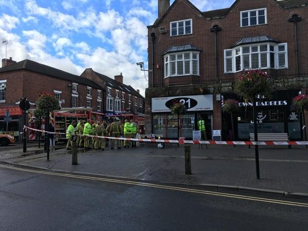 Fire at Market Drayton barber shop