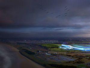 The proposed Britishvolt battery plant in Blyth, Northumbria
