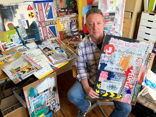 Collages a creative process for Shropshire artist in lockdown