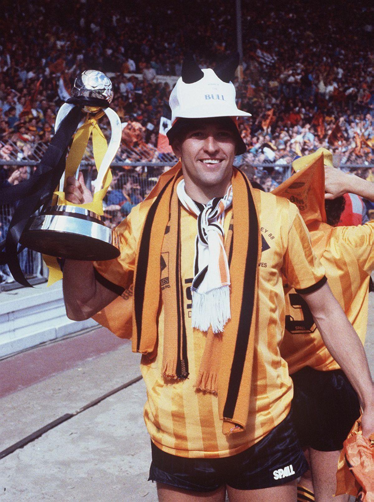 WOLVES/BURNLEY, SHERPA VAN FINAL,  AT WEMBLEY IN 1988